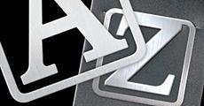 Метален разделител - Букви