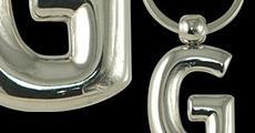 Метални ключодържатели букви