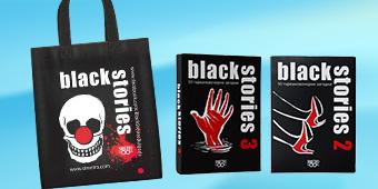 Коледен комплект - Black Stories 2 & 3 + чанта