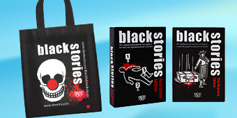 Коледен комплект - Black Stories Real Crime & Shit Happens + чанта