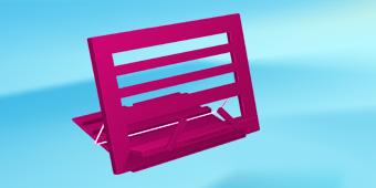 Коледен комплект - Розова поставка за книги + книгоразделител