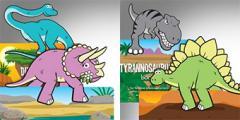 Книгоразделител с динозаври
