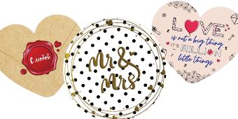 Табелки-картички за сватба
