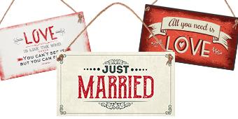 Табелки за сватба