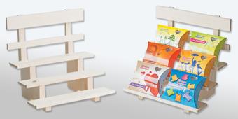 Дървен стелаж за кутийки